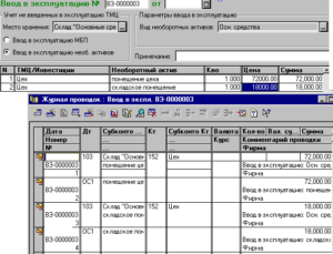Ввод в эксплуатацию основных средств: документальное оформление и проводки