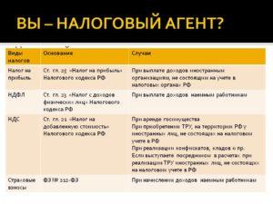 Налоговый агент по НДФЛ