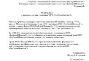 Пошаговая инструкция выхода из ООО учредителя в 2019 году
