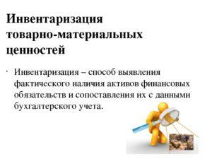 порядок проведения инвентаризации товарно-материальных ценностей