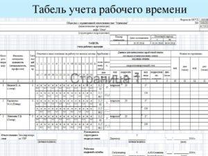 Табель учета рабочего времени: пример заполнения на 2019 год