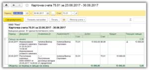 Проводки по взносу от учредителя на расчетный счет