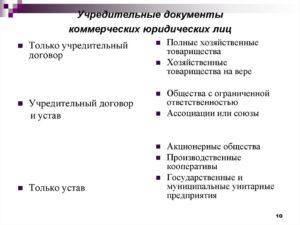 Перечень учредительных документов ИП