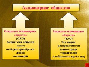 Акционерные общества