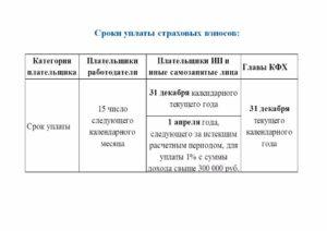 порядок и сроки уплаты страховых взносов в 2019 году