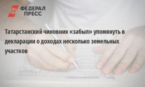 Реестр деклараций о доходах госслужащих