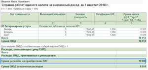 Расчет ЕНВД на транспортные услуги в 2019 году