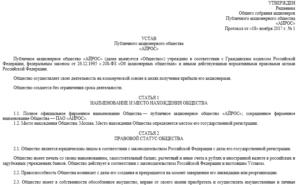 Устав публичного акционерного общества