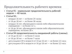 Продолжительность рабочего дня по Трудовому кодексу РФ в 2019 году