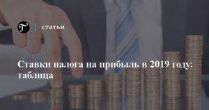 Ставка налога на прибыль в 2019 году