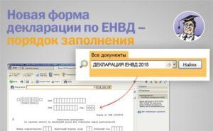 Правила заполнения декларации ЕНВД