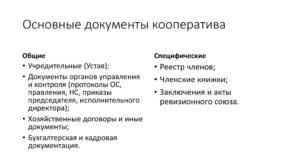 Учредительные документы производственного кооператива и особенности его создания