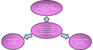Процесс отчуждения и распределения долей в уставном капитале ООО