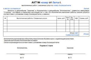 Образец акта выполненных работ: когда применить и как заполнить
