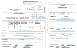 Приходный кассовый предписание: бланк и пример