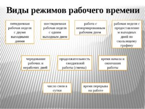 Виды режимов рабочего времени по ТК РФ