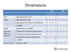 Бухгалтерская отчетность для ООО на ЕНВД