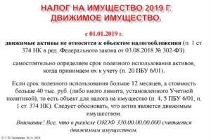 Налог на имущество для юридических лиц в 2019 году