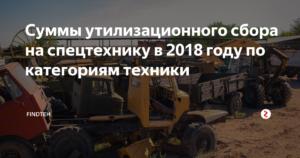 Утилизационный сбор на спецтехнику и самоходные машины в 2019 году