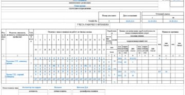 Табель учета рабочего времени по унифицированной форме Т-12 или Т-13