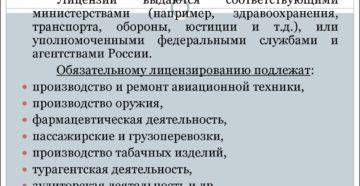 Лицензируемые виды предпринимательской деятельности в России на 2019 год