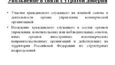 Увольнение в связи с утратой доверия согласно ТК РФ
