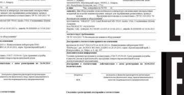 Реестр деклараций о соответствии Таможенного союза