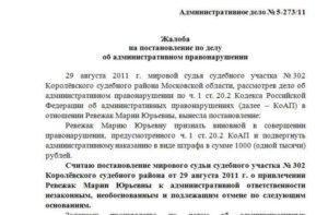 Полезный документ. Жалоба на постановление Госинспекции труда о назначении штрафа должностному лицу